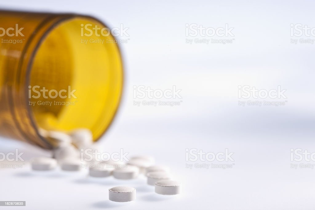 Open Medicine Bottle royalty-free stock photo