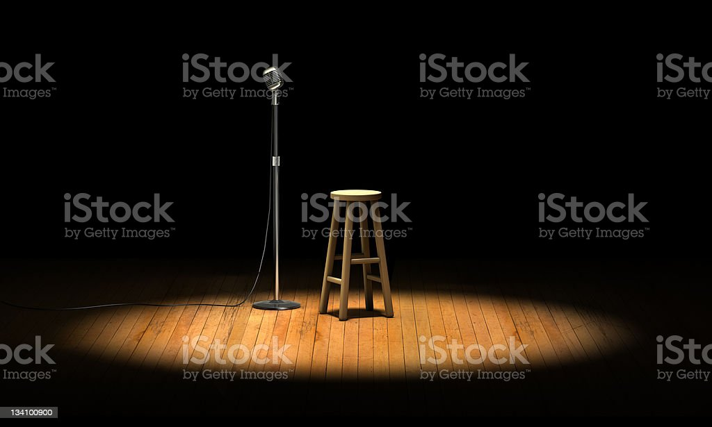 Open Mic stock photo