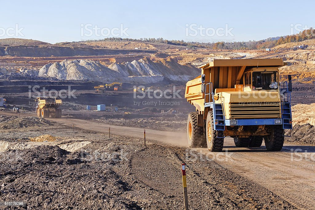 Open mining pit stock photo