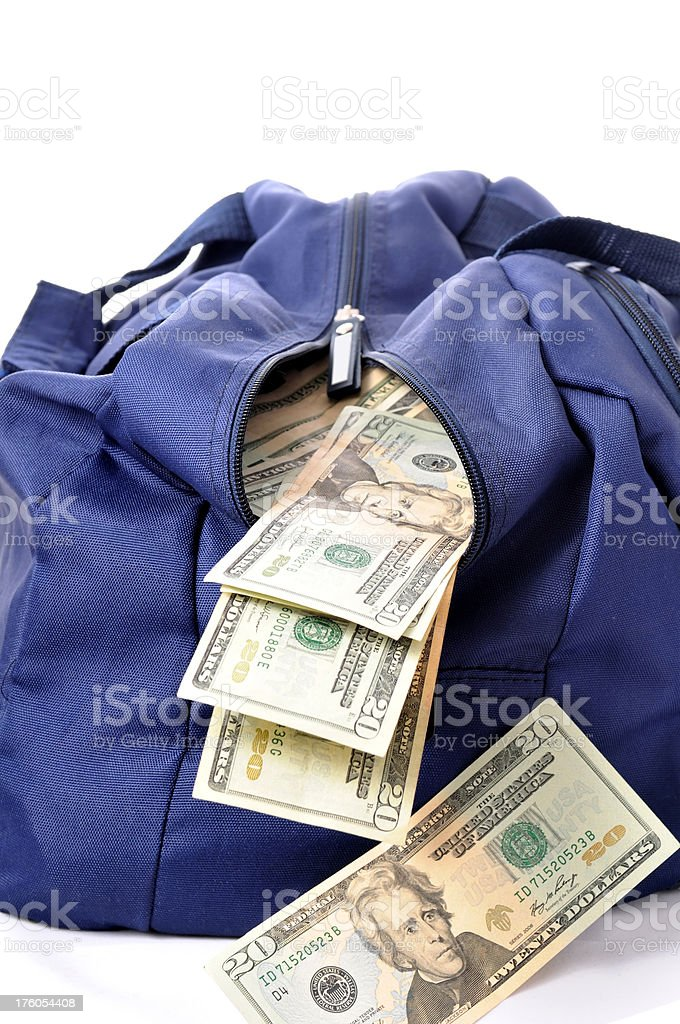 open money bag royalty-free stock photo