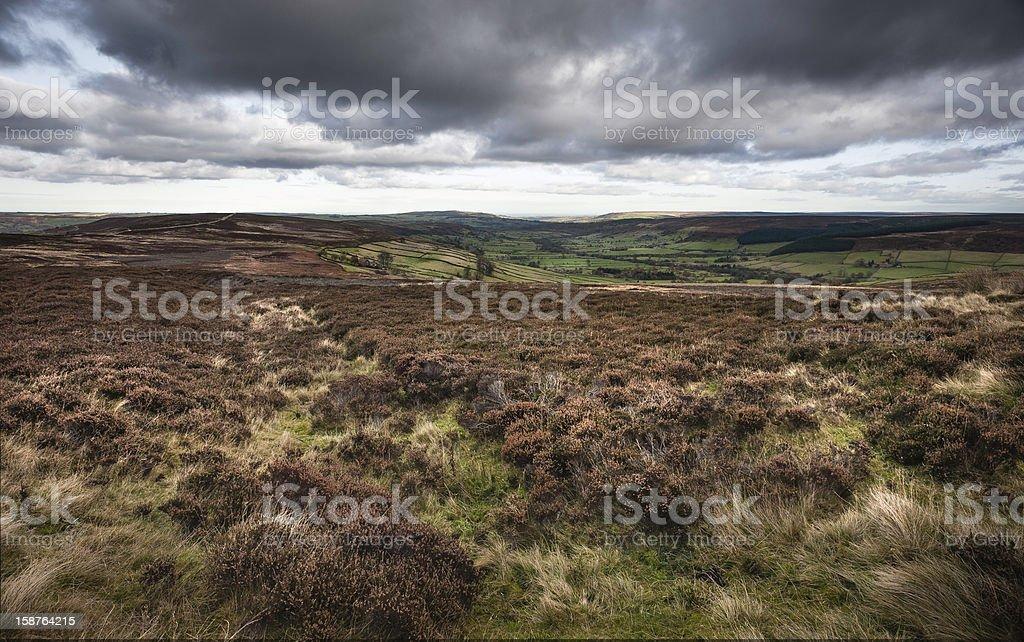 Open moorland, Glaisdale, North York Moors, Yorkshire, UK. royalty-free stock photo
