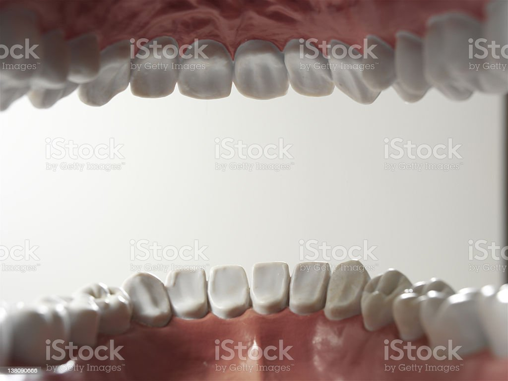 Open mouth stock photo