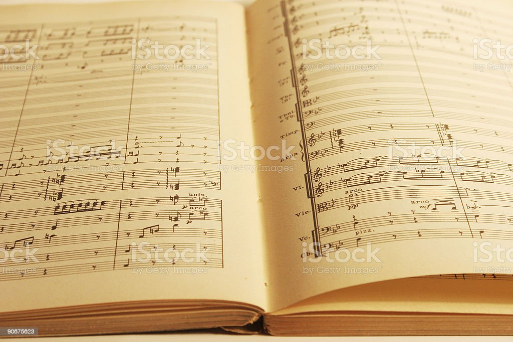 Open Music Book royalty-free stock photo