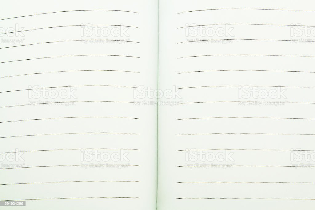 Open note book. stock photo