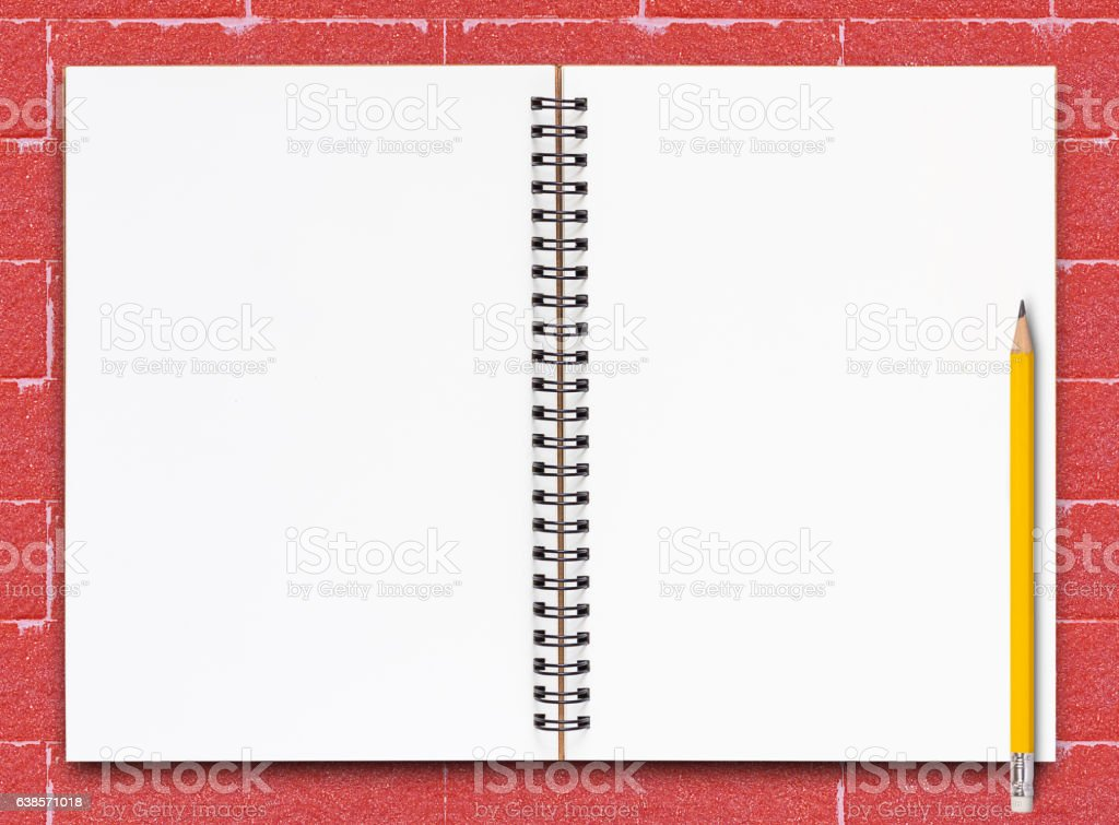 Open Notebook Page stock photo