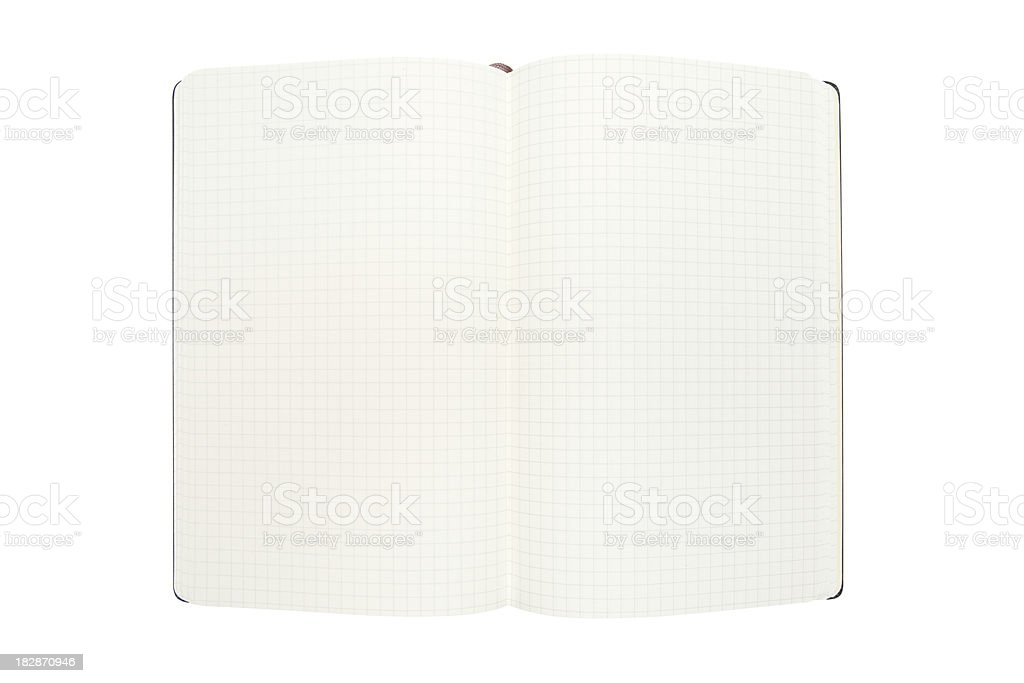 Open Notebook (Clipping Path Included) royalty-free stock photo