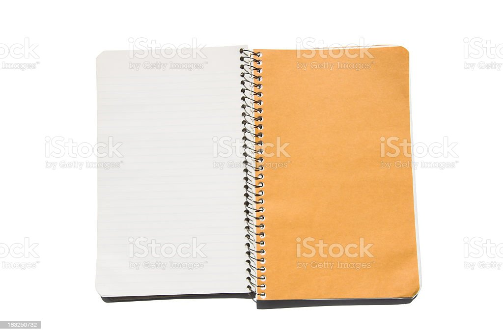 Open Notebook royalty-free stock photo