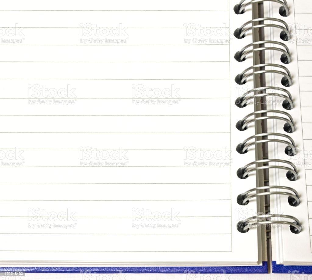 Open notepad royalty-free stock photo