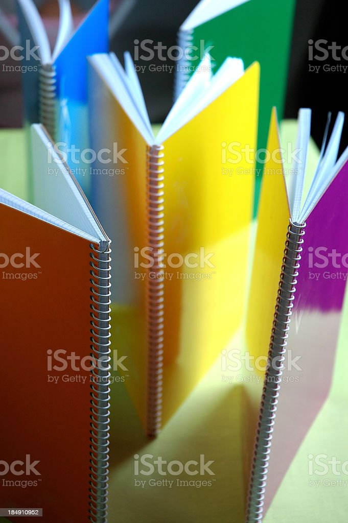 Open notepads royalty-free stock photo