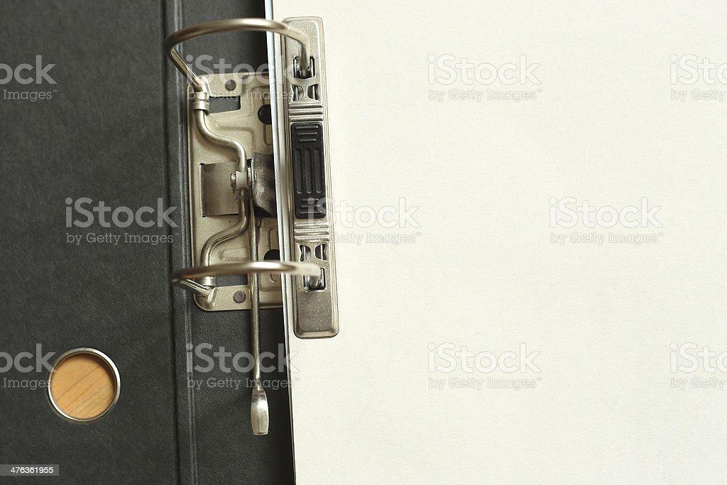 Open Office folder with blank dokument stock photo