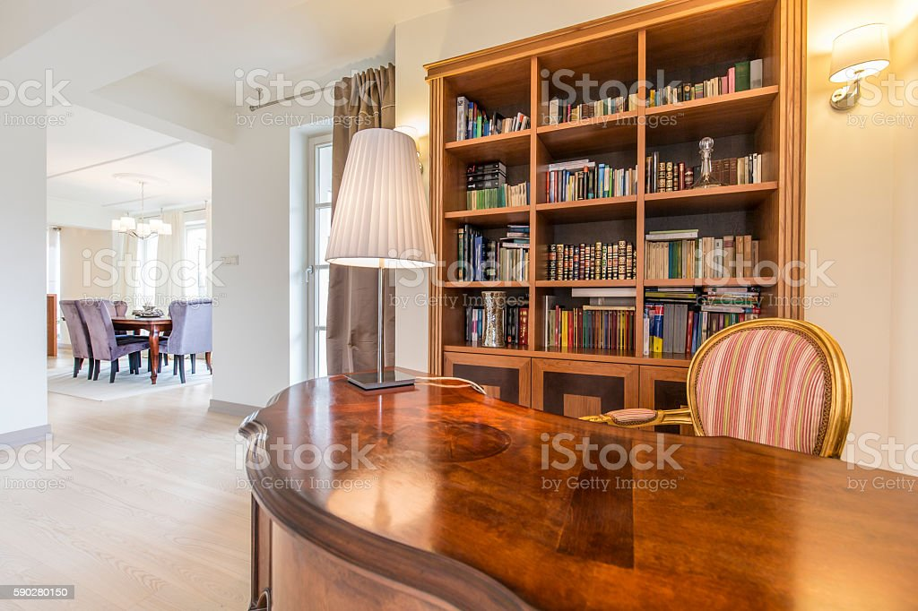 Open office in colonial style stock photo