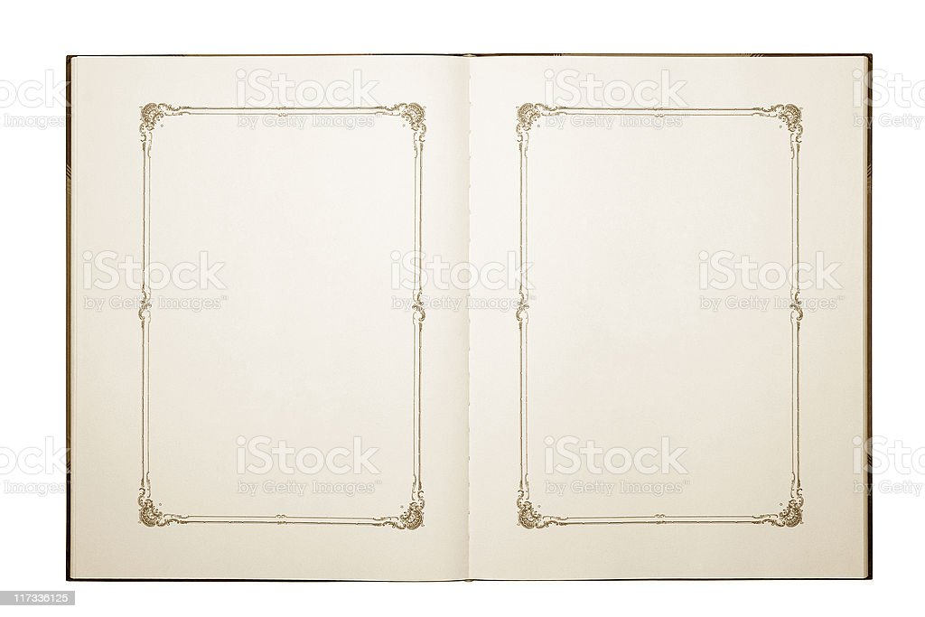 open old blank book royalty-free stock photo