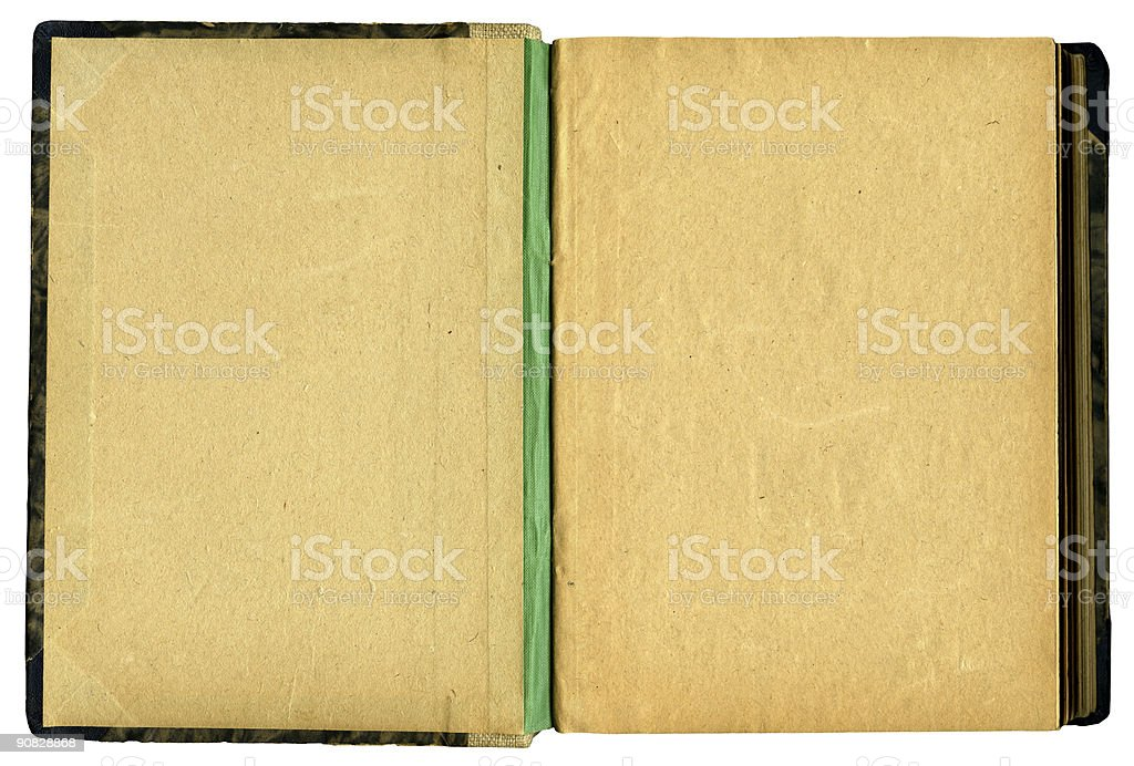 Open old Book 2 (XXL) royalty-free stock photo