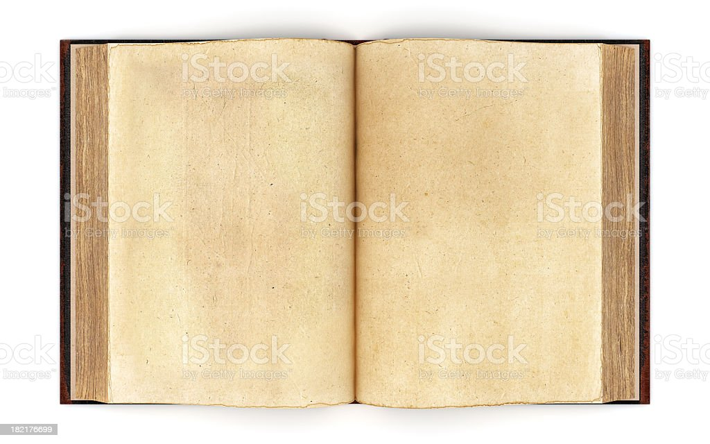 Open Old Book - Clipping Path stock photo