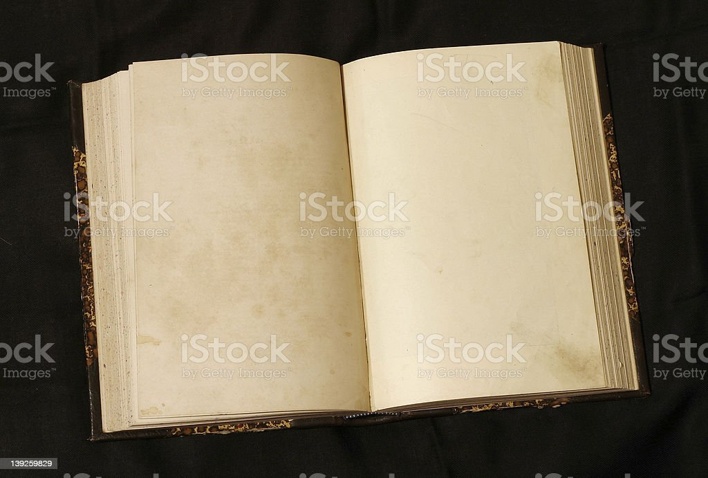 A open old book with blank pages royalty-free stock photo