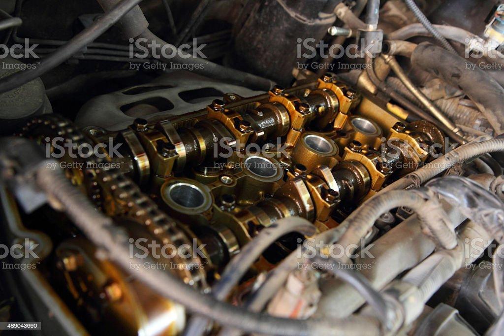 open old car valve stock photo