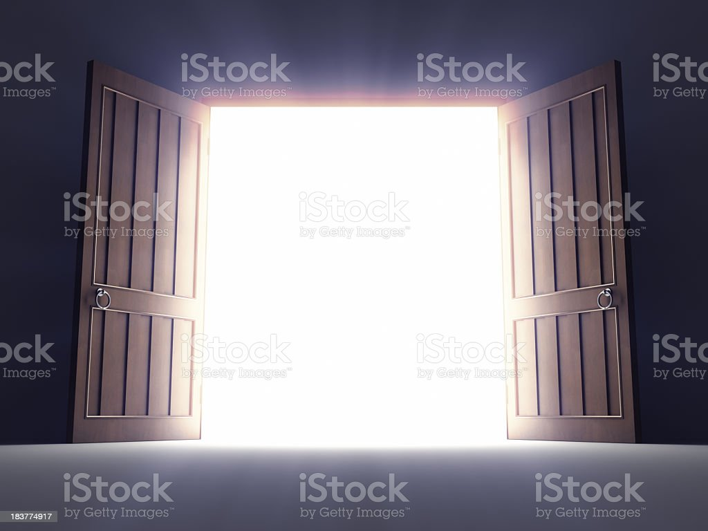 Open Old Doors stock photo