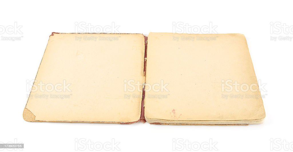 Open old notepad royalty-free stock photo