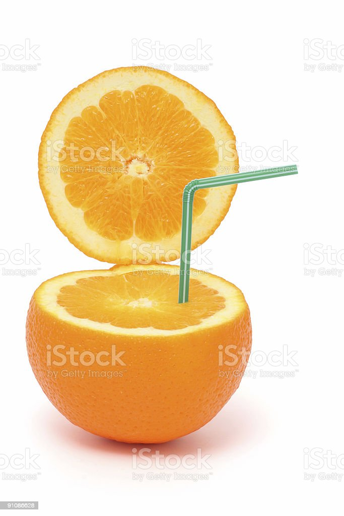 Open orange royalty-free stock photo