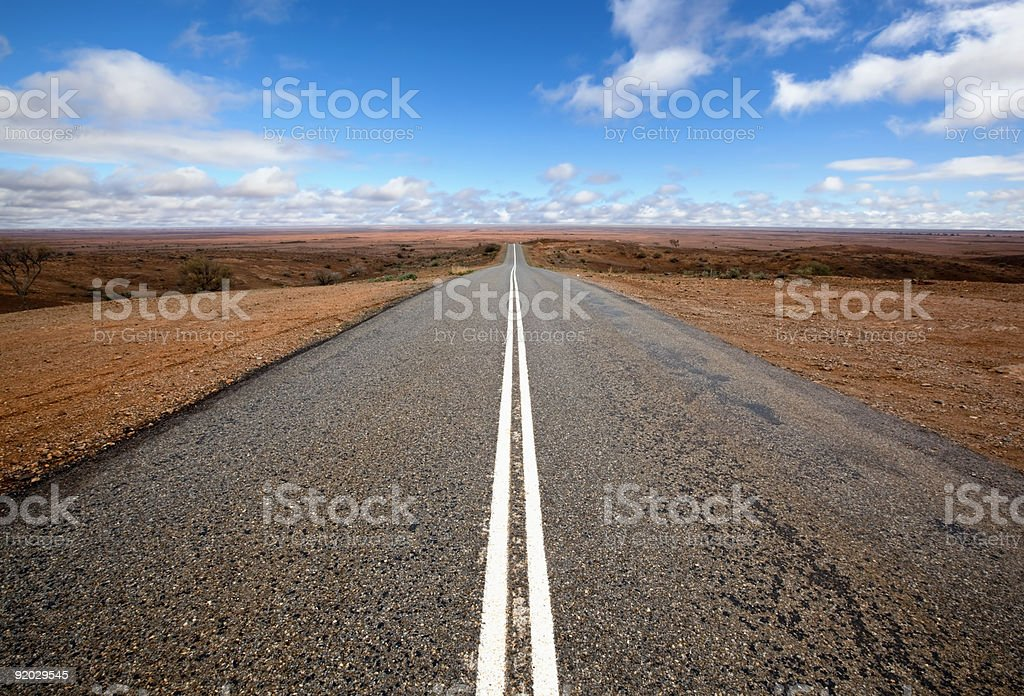 Open Outback Road stock photo