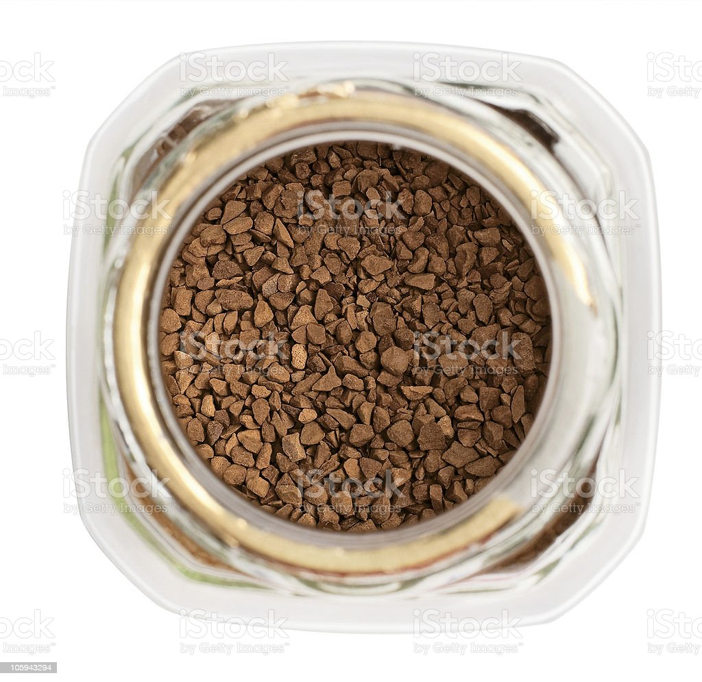 open package of instant coffee royalty-free stock photo
