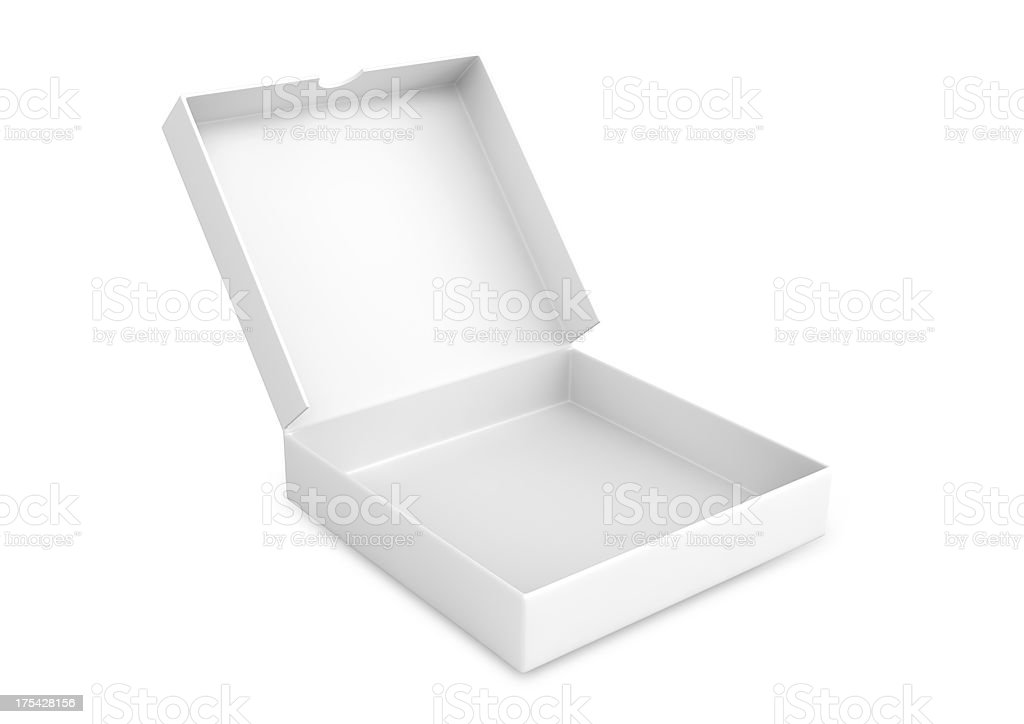 open packing box stock photo