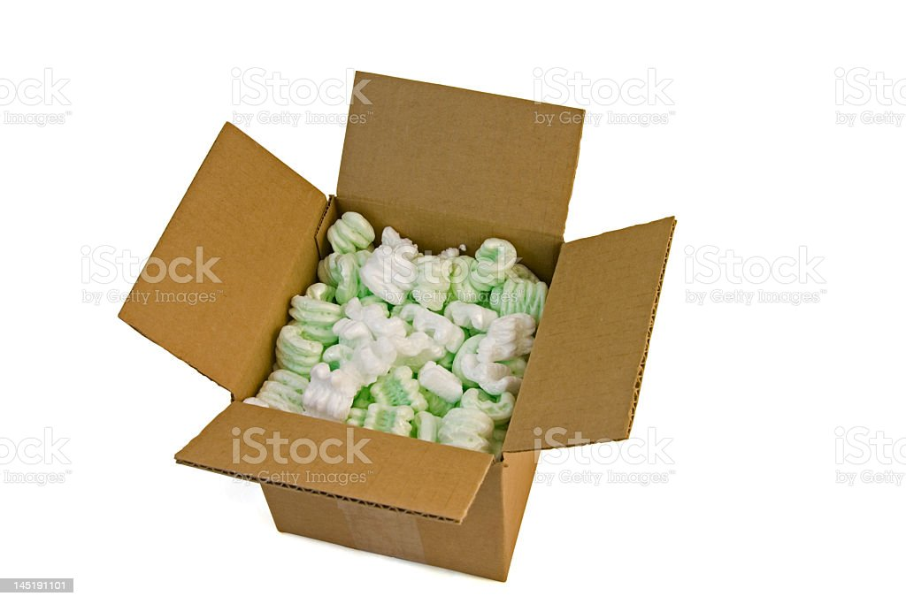Open Packing Box w/path royalty-free stock photo