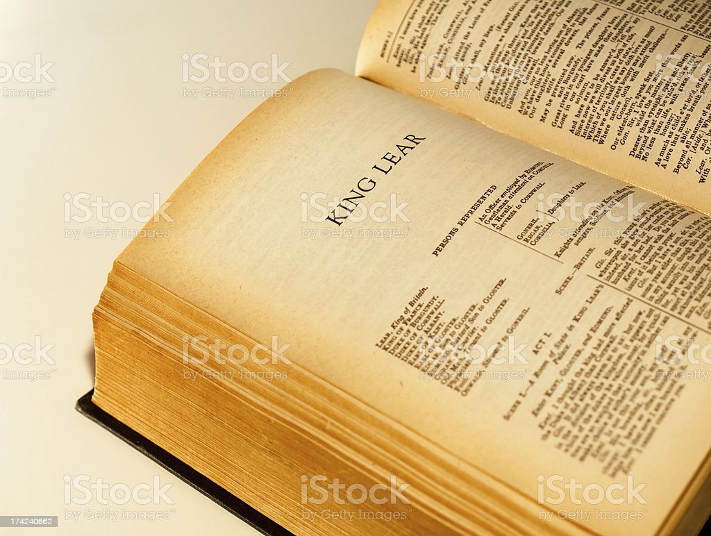 open page  the complete works of shakespeare stock photo