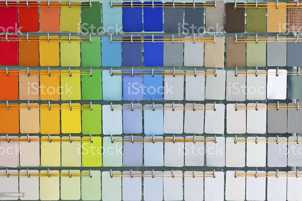 Open pantone color guide stock photo