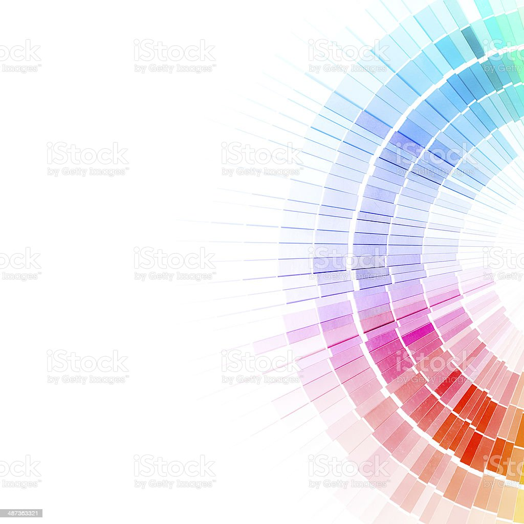 Open Pantone sample colors catalogue. stock photo