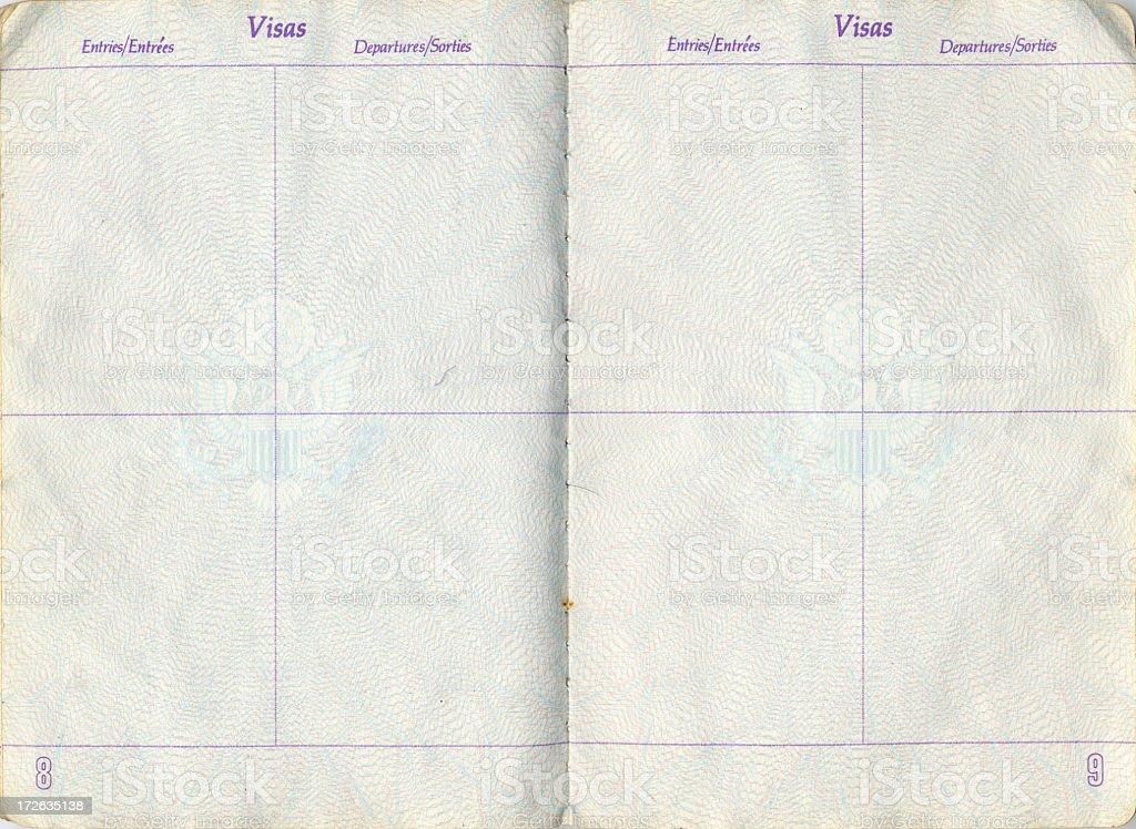 Open Passport stock photo