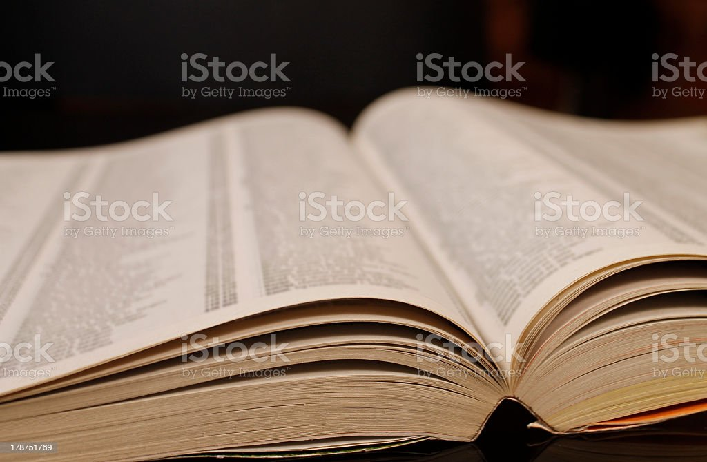 Open phonebook stock photo