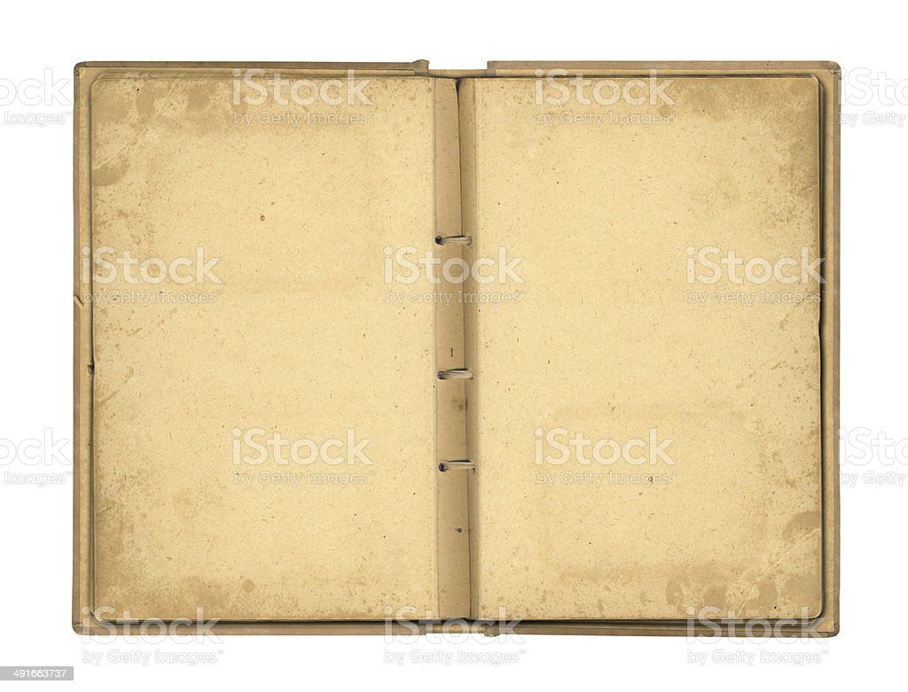 Open photoalbum with ribbon for photos on the isolated stock photo