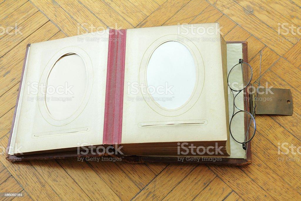 open photobook stock photo