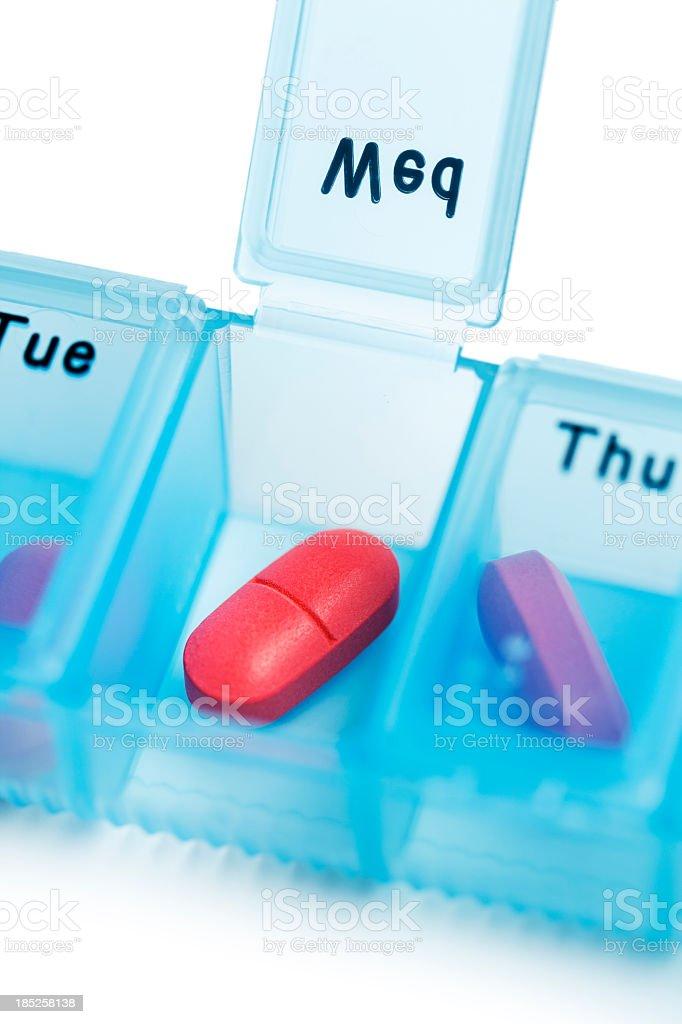 Offene Tablettenschachtel – Foto