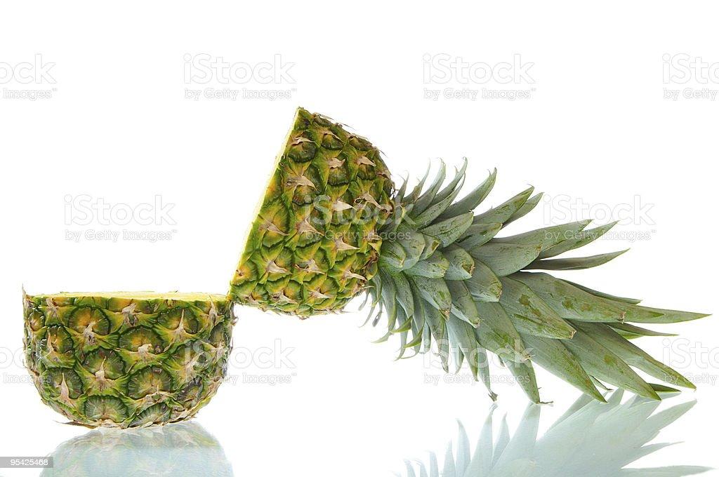 Open Pineapple stock photo