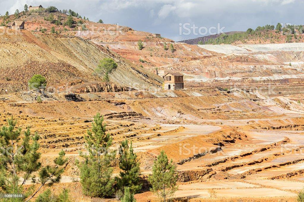 Open pit copper mine in Rio Tinto, Spain stock photo