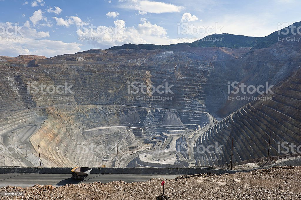 Open Pit Copper Mine in Utah USA royalty-free stock photo