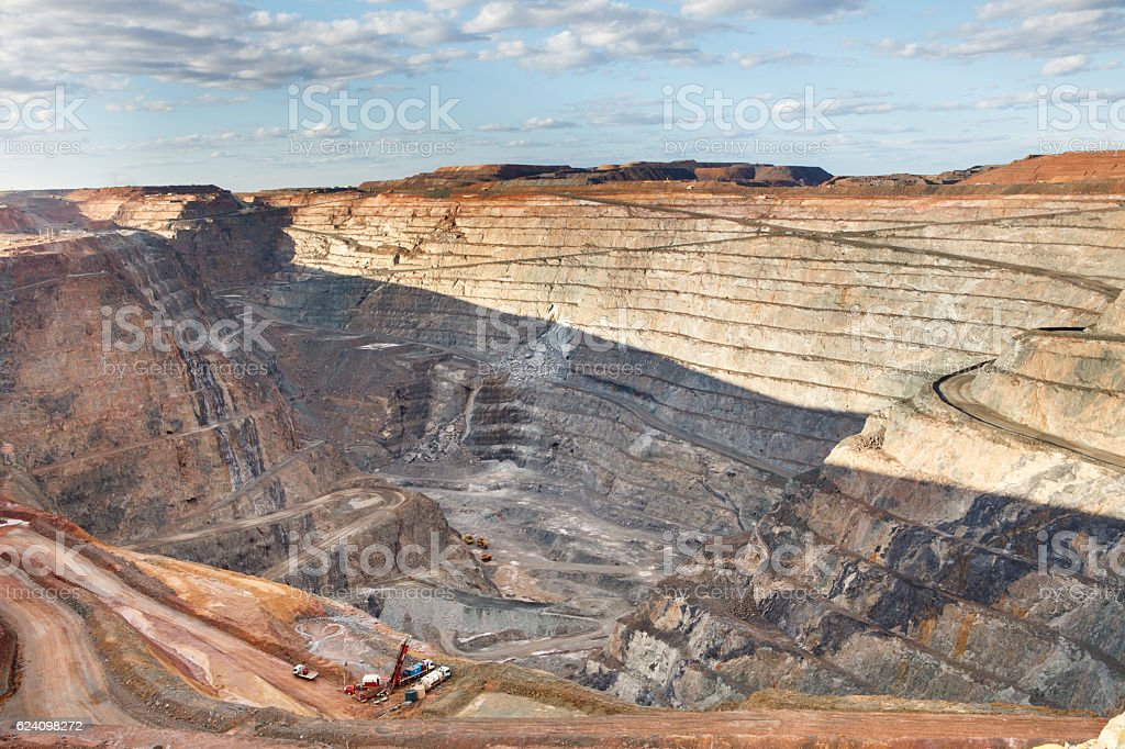 Open Pit Gold Mine stock photo