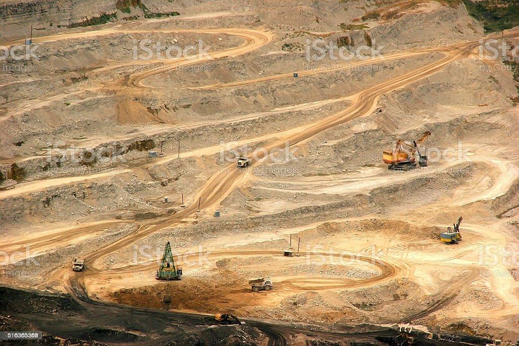 Open pit in Montenegro stock photo