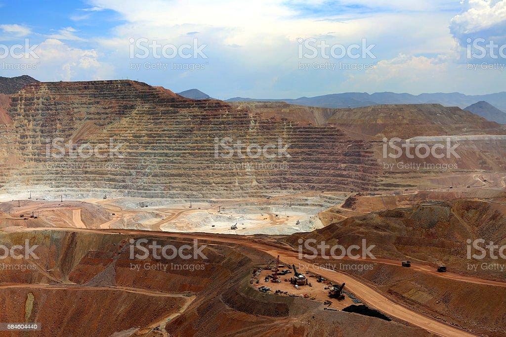 Open Pit Mine, Morenci, Arizona 2 stock photo
