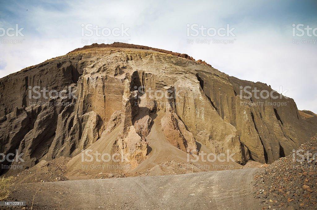 Offene Untertagebau mountain.  Insel Fuerteventura Lizenzfreies stock-foto