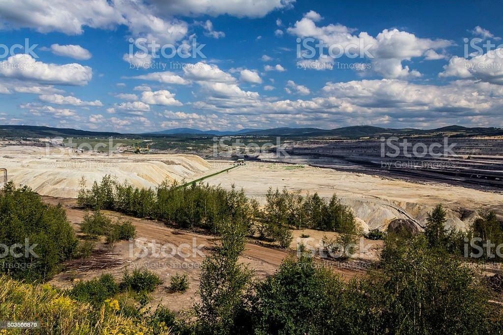 Open pit mine, Poland stock photo