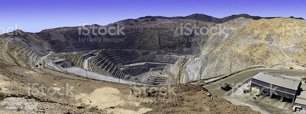 Open Pit Panorama royalty-free stock photo