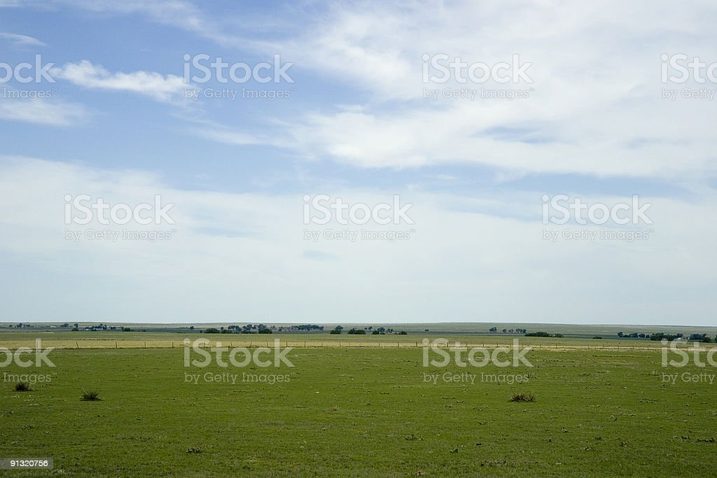 Open plains & sky royalty-free stock photo