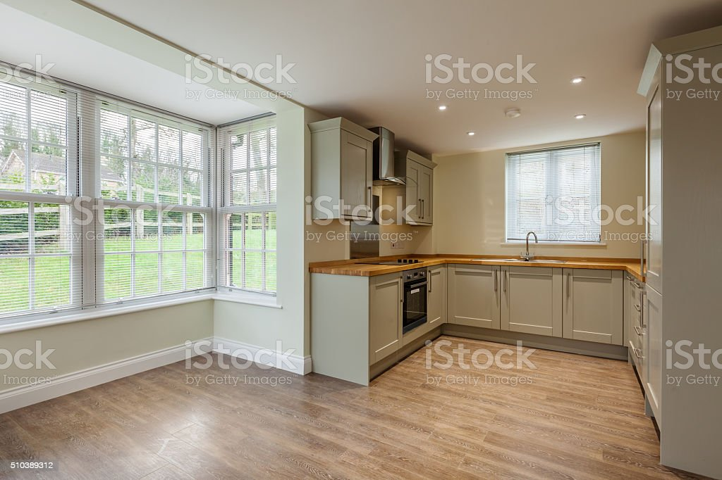 Open plan Kitchen stock photo