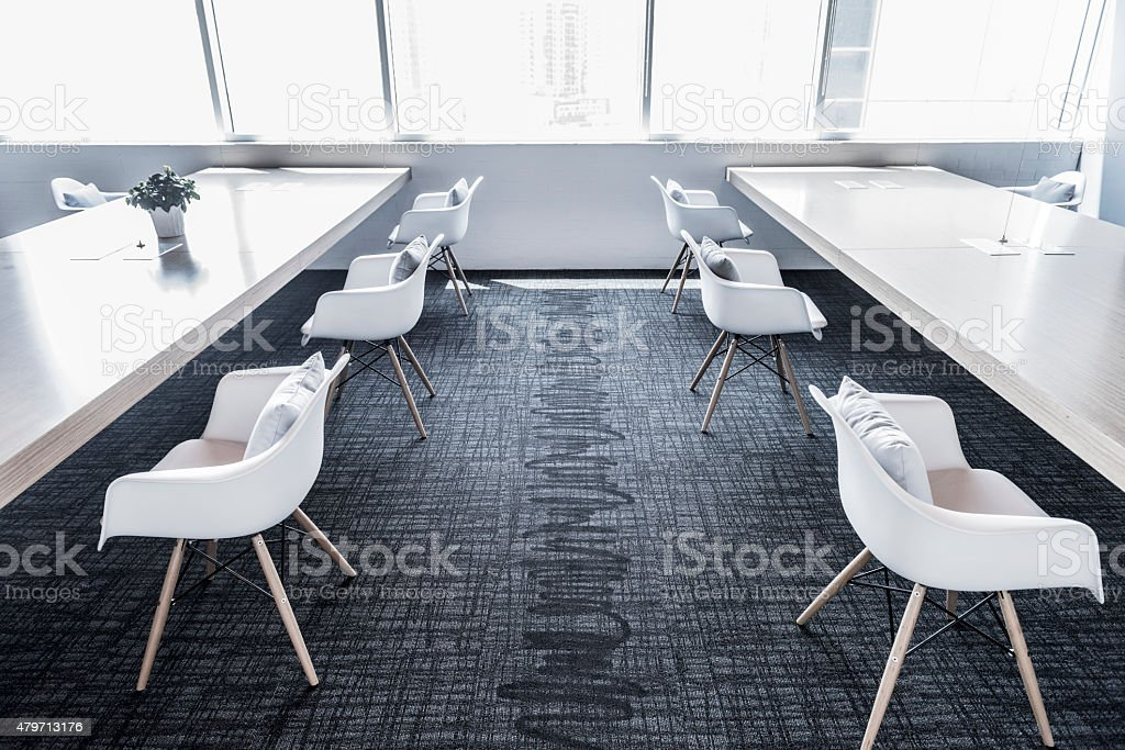 Open plan office space stock photo