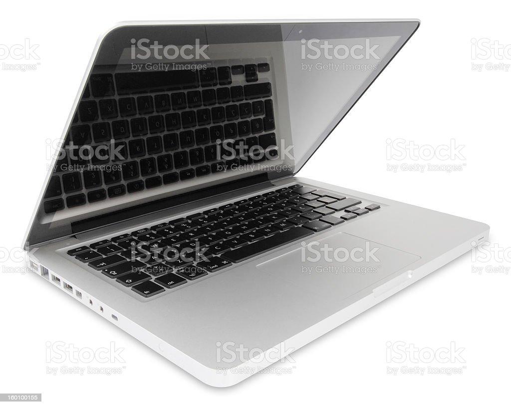 Open portable computer royalty-free stock photo