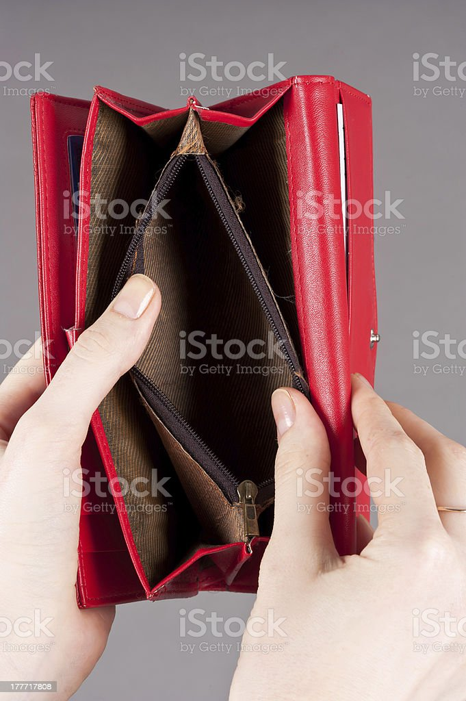 open purse royalty-free stock photo