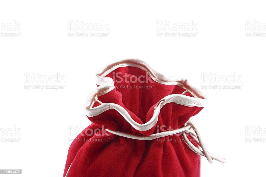 Open red bag royalty-free stock photo